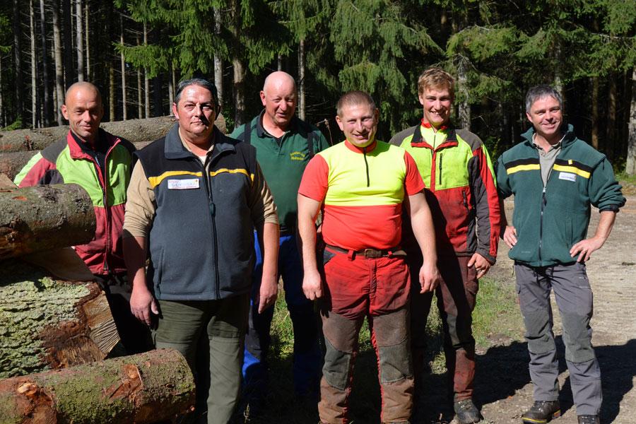 Mitarbeiter der städtischen Forstverwaltung