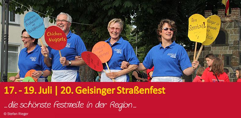 20. Geisinger Straßenfest - Einzug der Festwirte