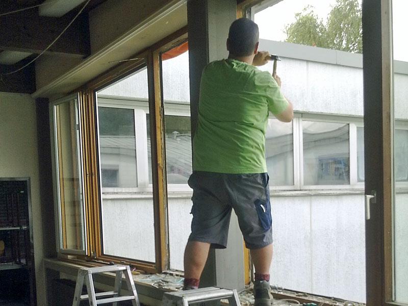 Sanierungsarbeiten Fenster