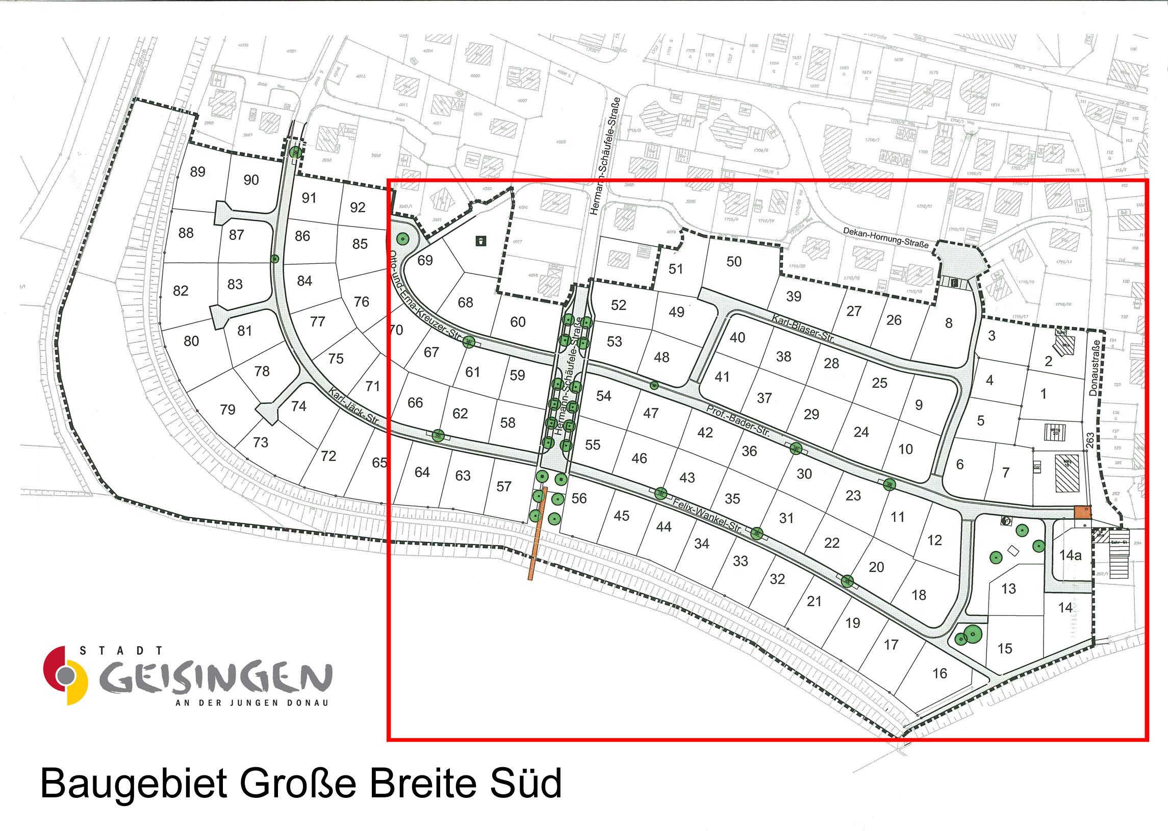 Lageplan Große Breite Süd - Gesamt