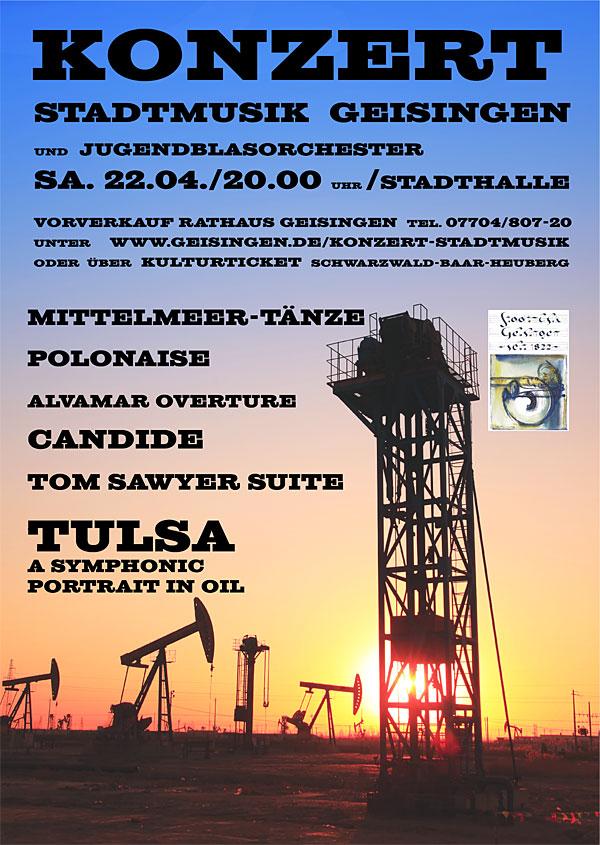 Flyer Konzert Stadtmusik Geisingen