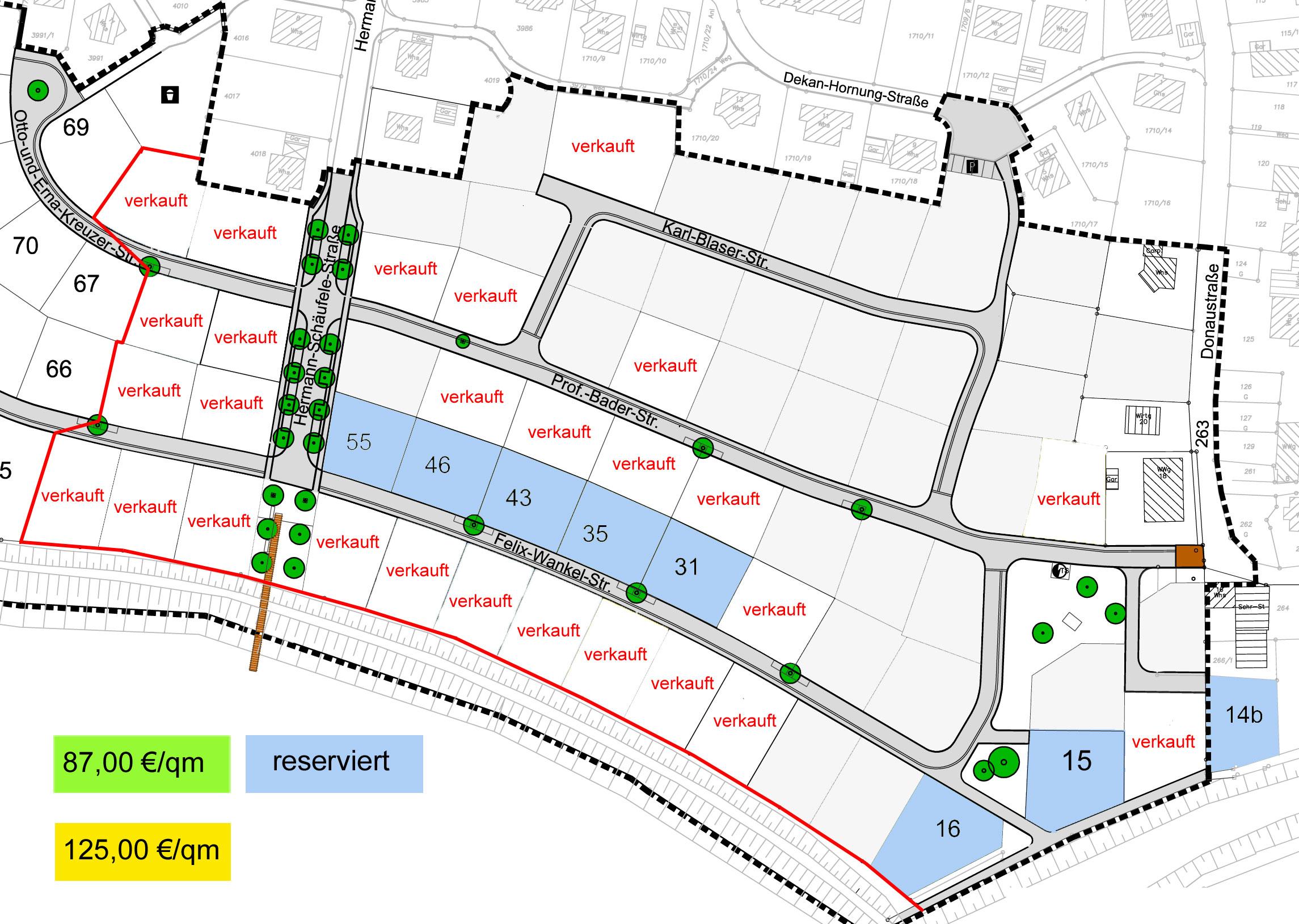 Lageplan Große Breite Süd - Teil
