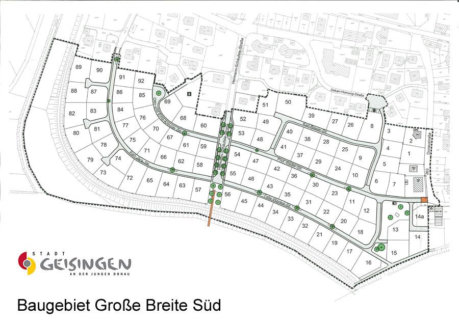 Lageplan Große Breite Süd