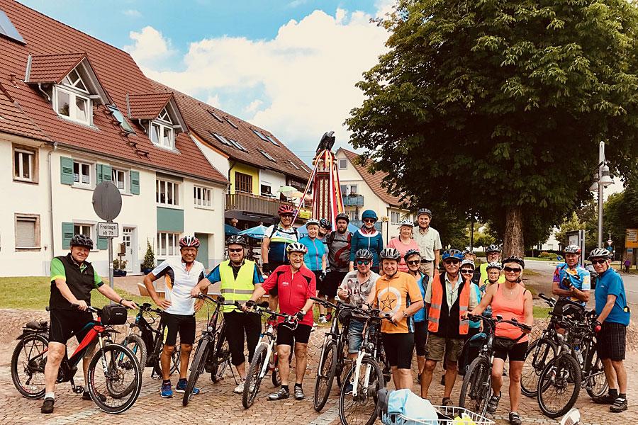 Die Teilnehmer der Radtsternfahrt aus Geisingen.
