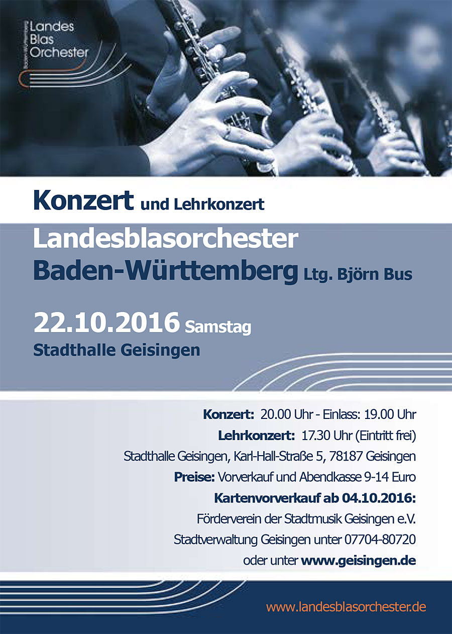 Konzert Landesblasorchester Baden-Württemberg
