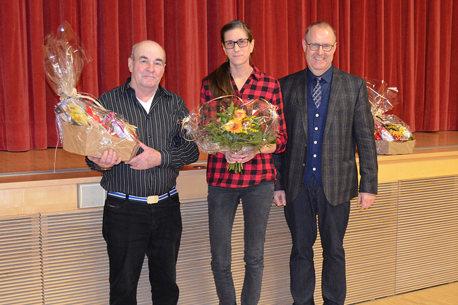 Herr Arkadi Pfeif und Frau Marina Stumpf wurden verabschiedet.