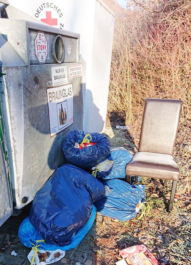 Wilde Müllablagerung