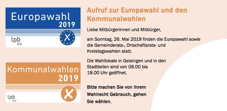 Europa- und Kommunalwahlen