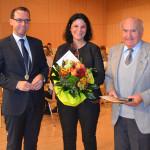 Bürgermeister Martin Numberger, Ingrid Fromm und Gerhard Fluck