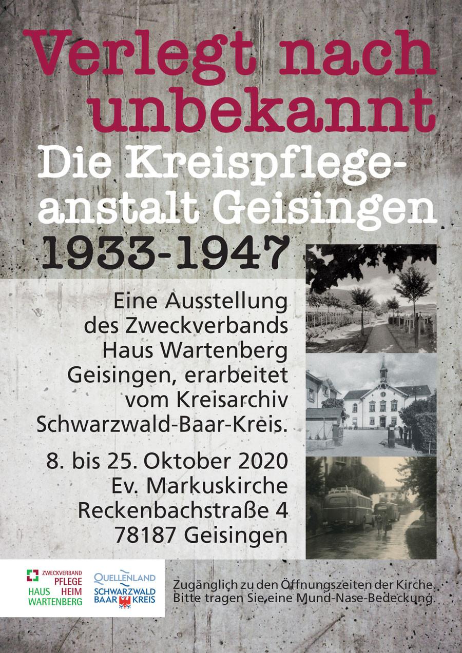 "Plakat Ausstellung ""Verlegt nach unbekannt"""