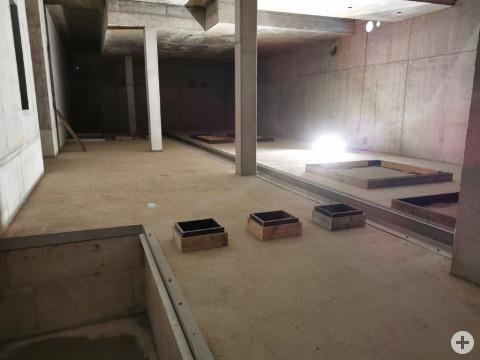 Das neue Wasserwerk von innen im Rohbau.