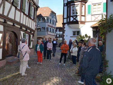 Die Geisinger Senioren bei der Stadtführung in Schiltach.