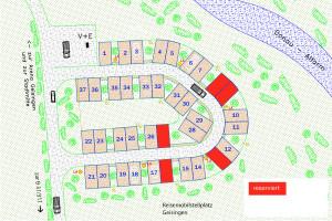 Lageplan Reisemobilstellplatz Geisingen