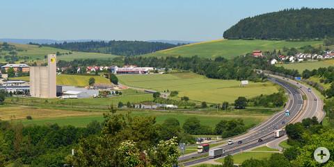 Blick auf das Industrie- und Gewerbegebiet Danuvia81