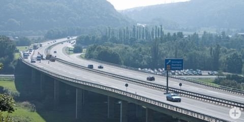 Autobahn A81 Abfahrt Geisingen