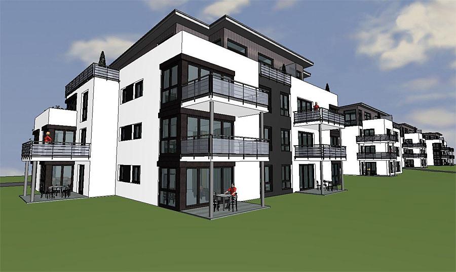 Grafik Wohnbebauung Alte Gärtnerei