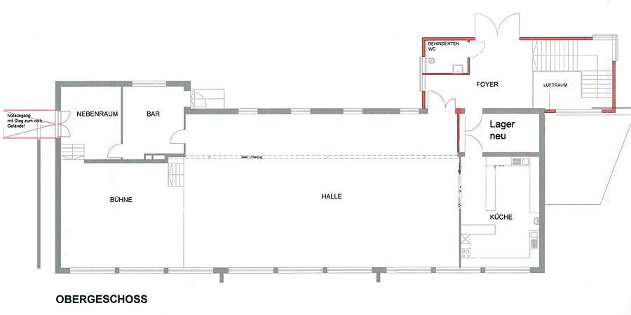 Gemeinschaftshaus Gutmadingen Grundriss Obergeschoss