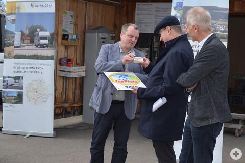 Jürgen Dieckert, Bürgermeister Walter Hengstler und Walter Knittel