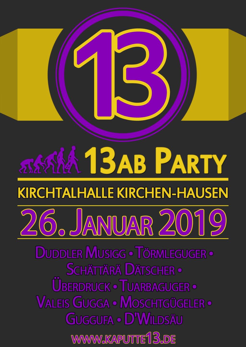 Flyer K 13 AB Party