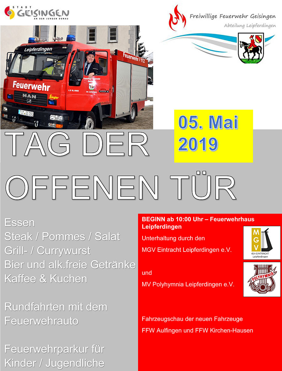 Flyer Freiwillige Feuerwehr Leipferdingen
