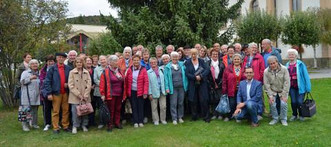 Gruppenfoto der Teilnehmer vom Seniorenausflug 2019