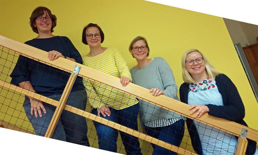 Franziska Scholz, Ulrike Hilbert, Anja Stihl und Sandra Speck