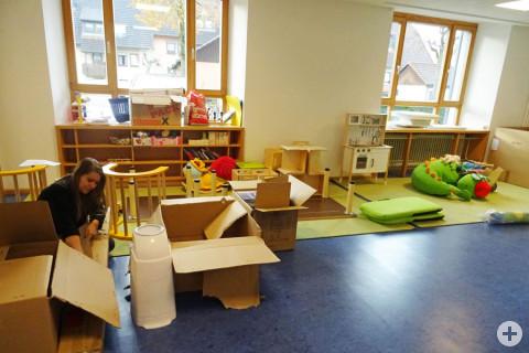 Ein neu gestalteter Gruppenraum.