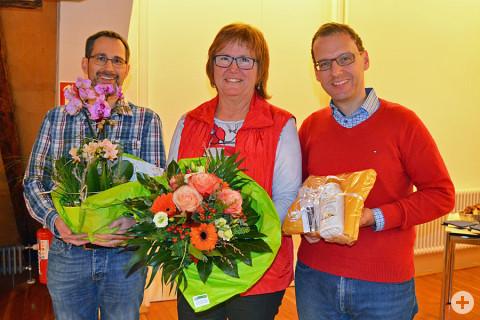 Michael Stoffler, Elke Baier und Bürgermeister Martin Numberger