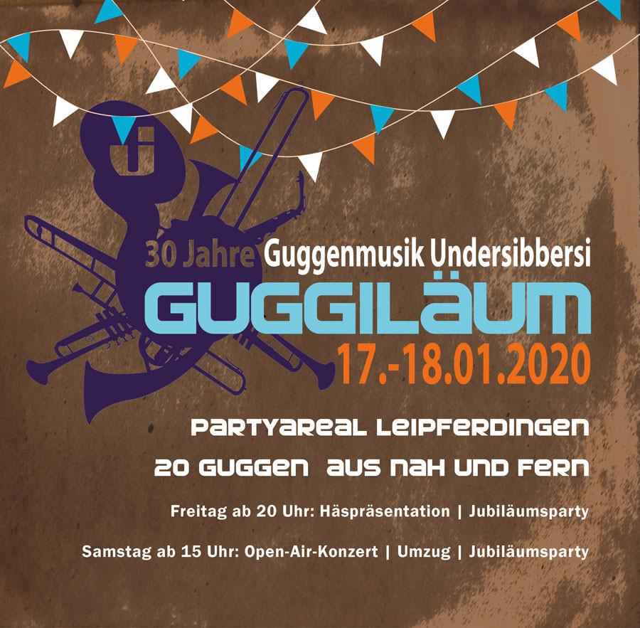 Flyer Guggiläum Guggenmusik Undersibbersi