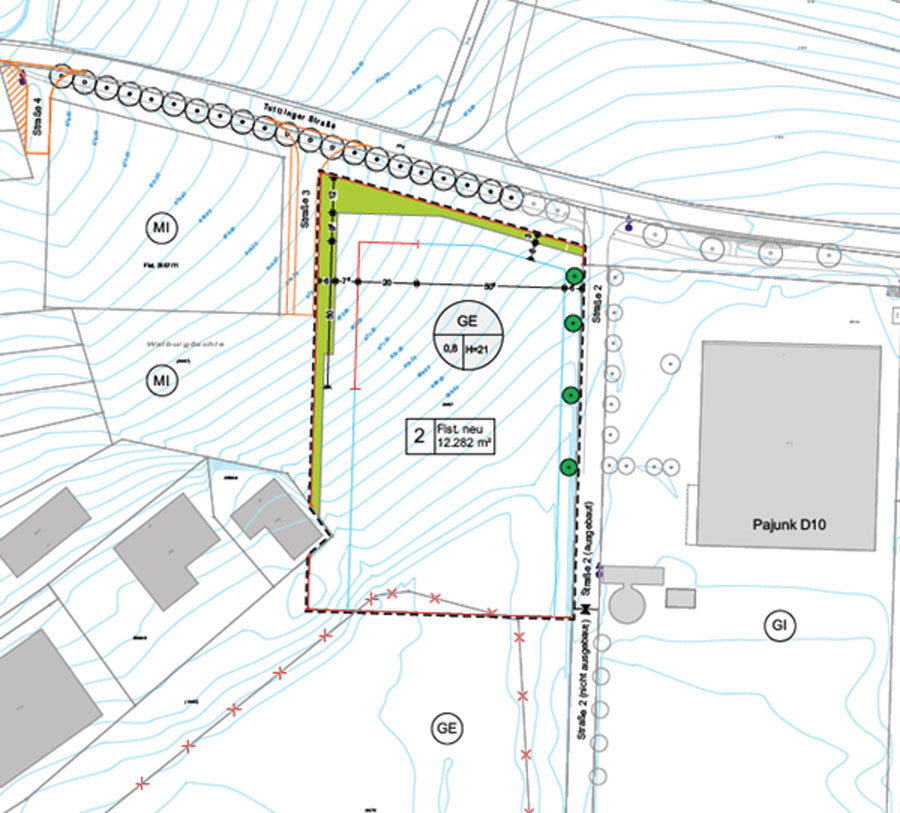 Lageplan DANUVIA81 - West 2. Abschnitt